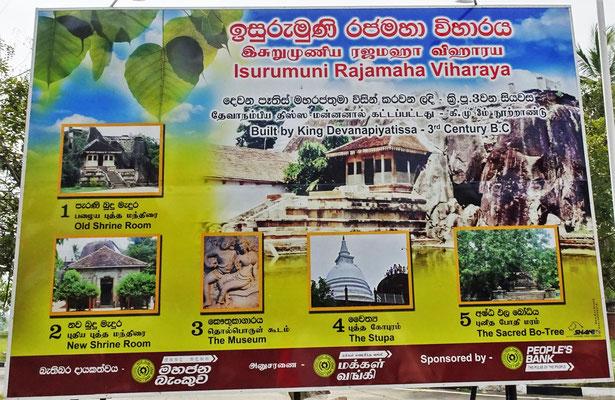 Der Isurumuni Tempel....