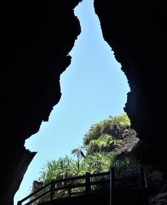 Ein kleiner Höhlendurchgang.