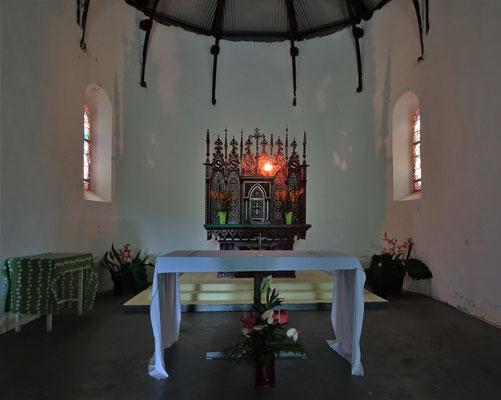 Der einfache Altar mit....