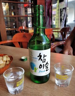 ....und tranken Soju.