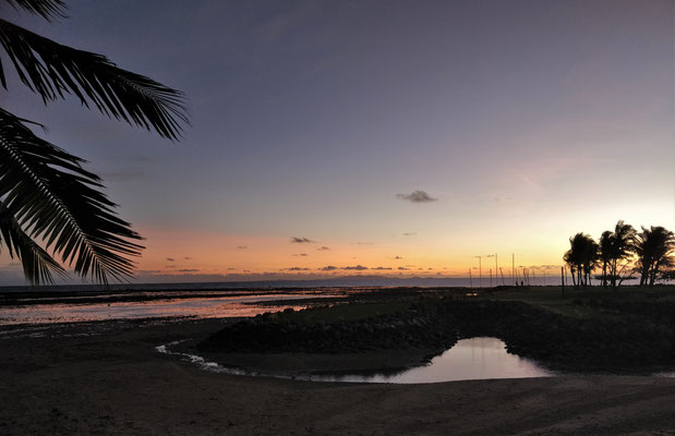 Der erste Sonnenuntergang.....