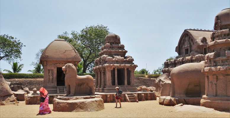 Der Five Rathas Tempel...