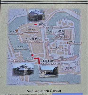 ....mit dem Nishi-no-maru Garten.