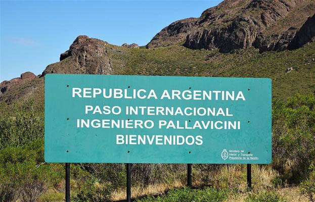 .....bis zur Argentinischen Grenzstation.