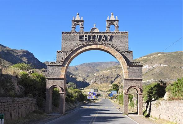 Wir verlassen Chivay.