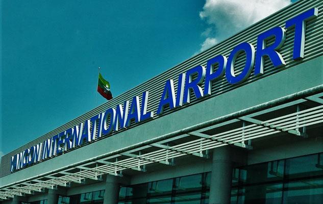 Der Flughafen von Yangon