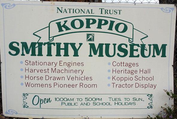 Das Smithy Museum in Koppio.