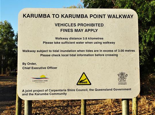 Also dieser Spazierweg hat gewisse Risiken.
