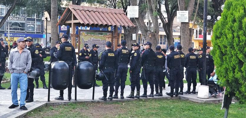 Das grosse Polizeiaufgebot....