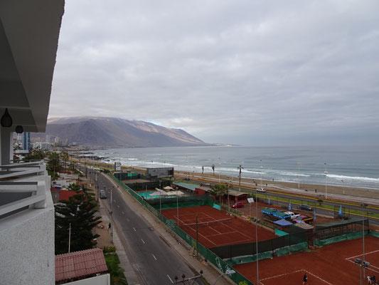 Der Blick von unserem Hotel.....