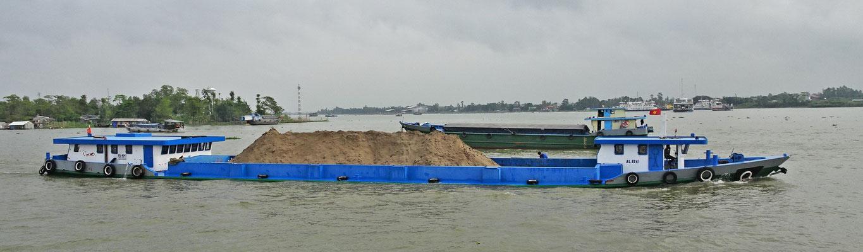 Sand für die Gebäude.