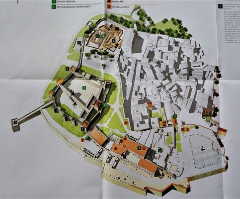Übersicht des Castelo S. Jorge.