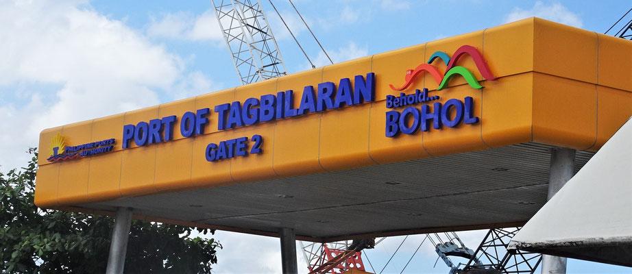 Die Ankunft in Bohol.
