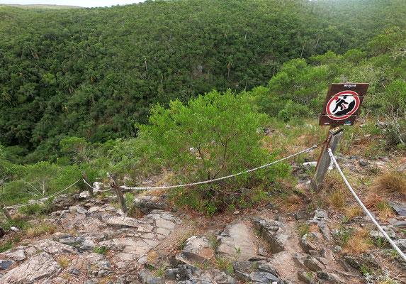 Die Kletterpartie bei der Rundwanderung.