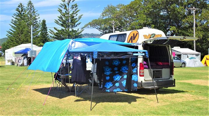 Unser letzter Campingplatz in Kiama.