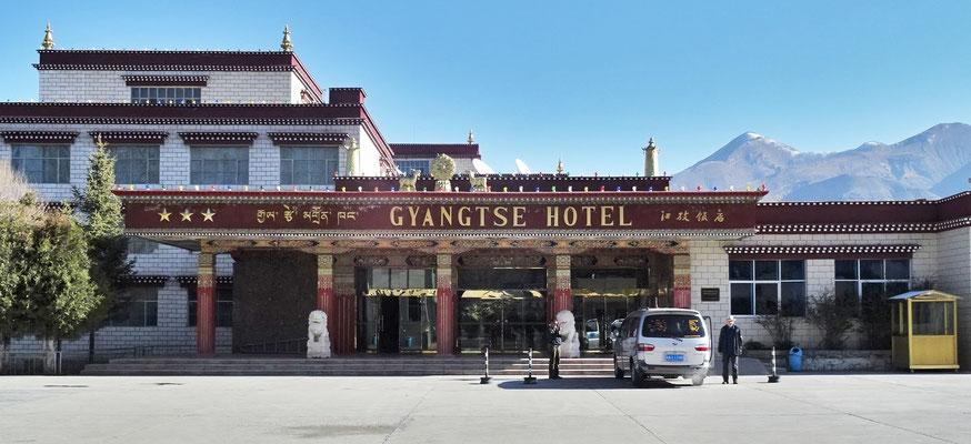 Unser Hotel Shigatse in Shigatse..