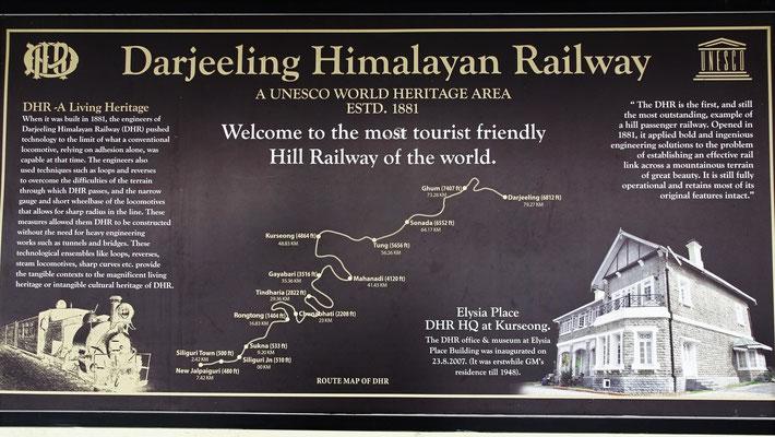 Die Strecke wird nur noch von Kurseong nach Darjeeling betrieben