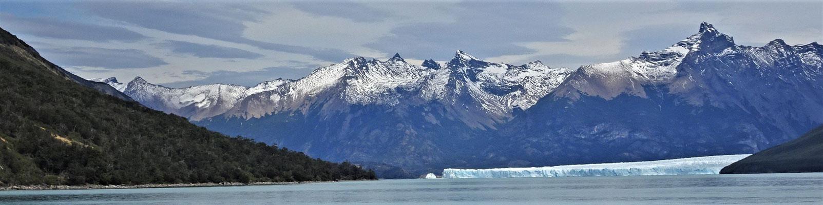 Der Blick auf den Perito Moreno Gletscher.....