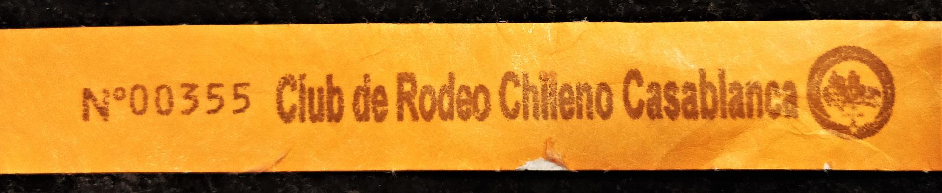 Das Eintritt-Ticket zum Rodeo.
