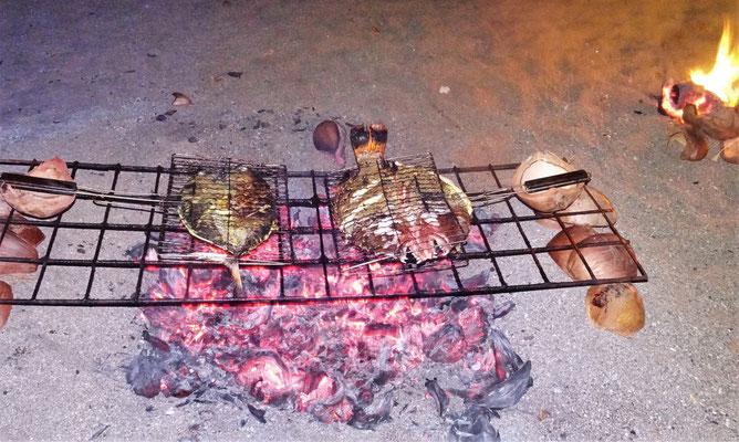 ....beim grillieren zu....