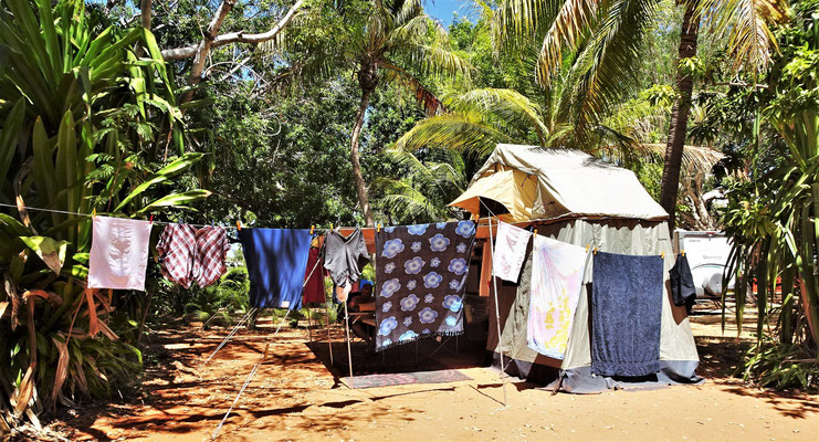 Einrichtung im Cable Beach caravan Park in Broom.