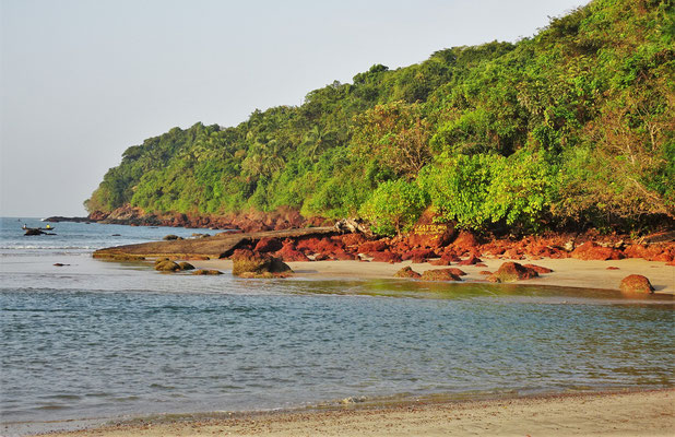 ....an der Agonda Beach.....
