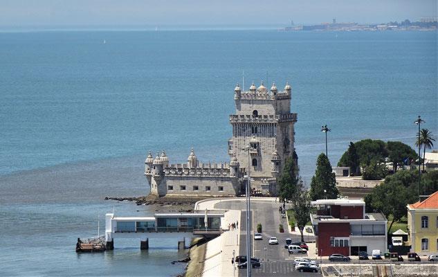 ......Richtung Torre de Belem.