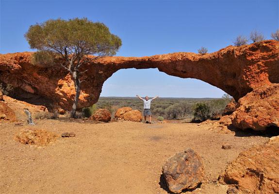 Eine natürliche Felsbrücke.