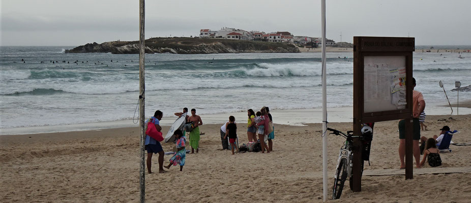 Der Strand von Peniche.