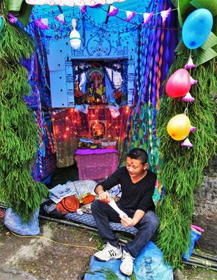 """Altar"" für das Paju Fest..."