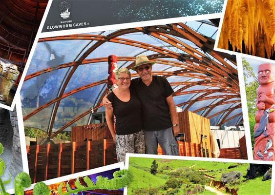Die Glühwürmchenhöhle in Waitomo.....