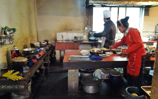 Die Küche des Lunch-Restaurant