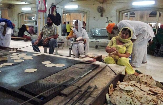 Chapati-Produktion...
