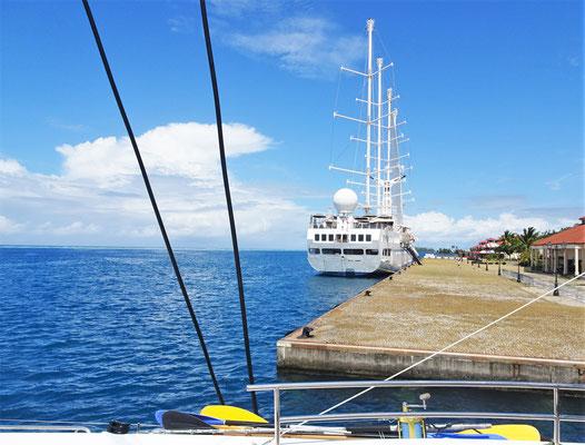 Der Hafen von Raiatea.