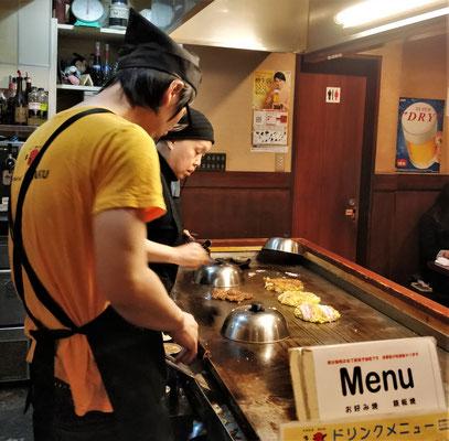 Im Teppanyaki Restaurant wird.....