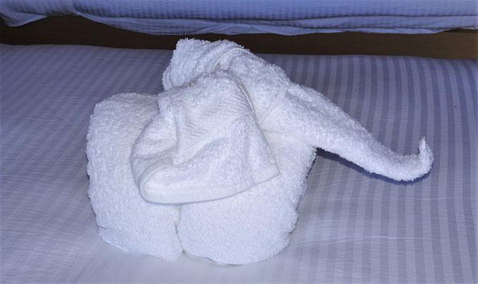 ...und der Handtuchdeko.