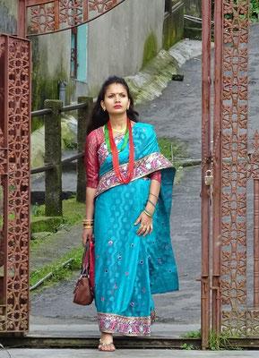 ..wunderschönen Saris.