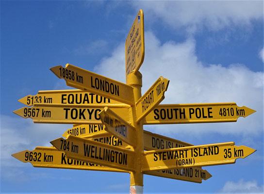 .....nur noch 4'810 km bis zum Südpol.