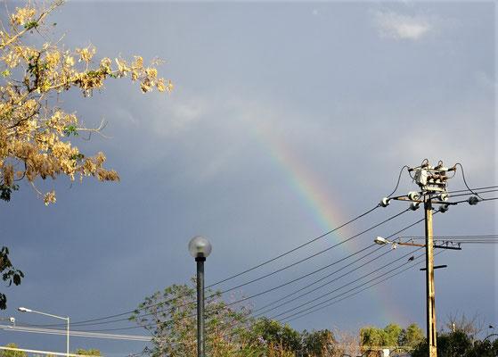 .....mit dem Regenbogen dahinter.