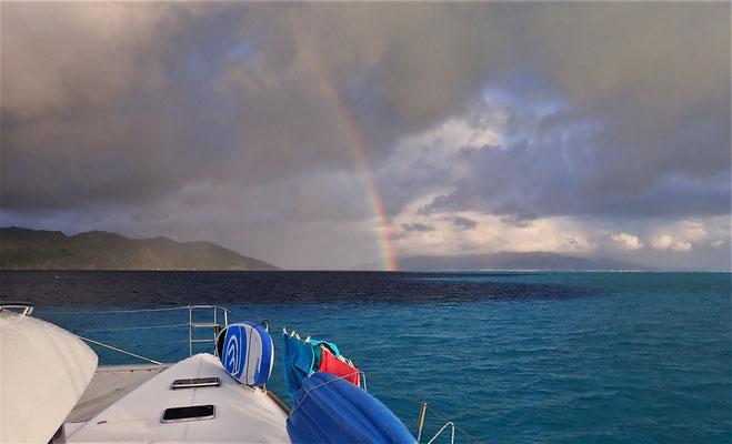 Ein Regenbogen nach einem......