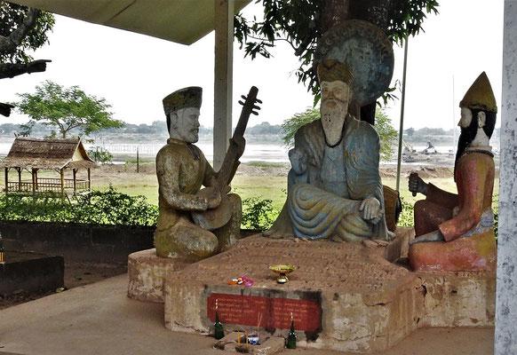 Der Blick zum Mekong.