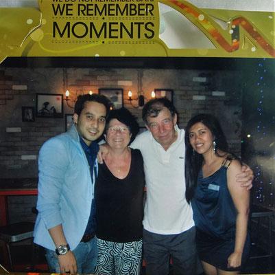 In der Hubba Hubba Bar mit Anil und Lyka....