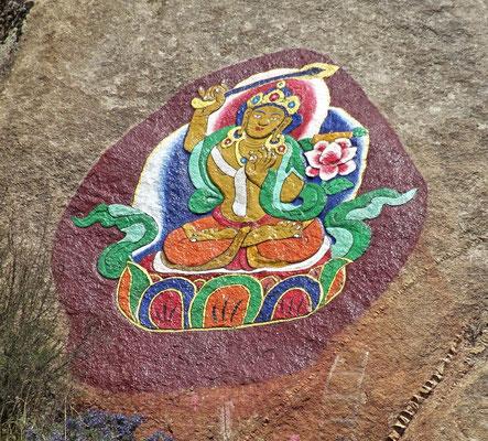 Felsenbild ausserhalb des Klosters