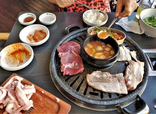 Fleischplatte in Jeonju.