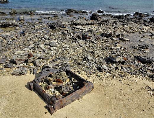 Die Überreste dieses Materials.....