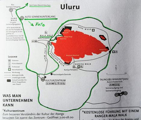 Unsere Rundfahrt um den Uluru.