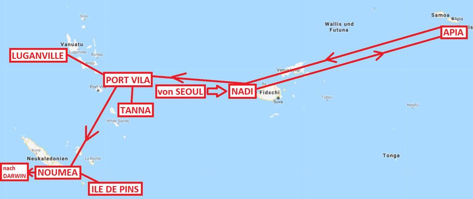 Gesamte Südseereise