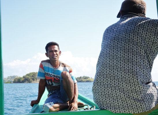 ....der Schiffsjunge zu dem 17 Insel Nationalpark.