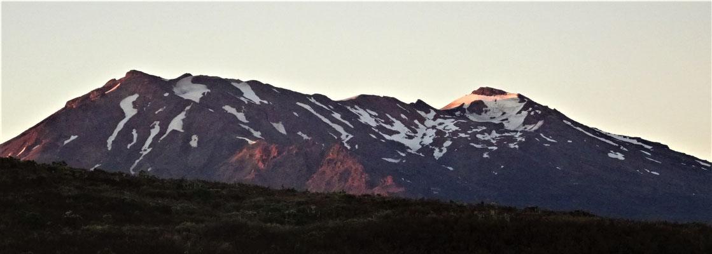 ....und der Blick in die Berge.