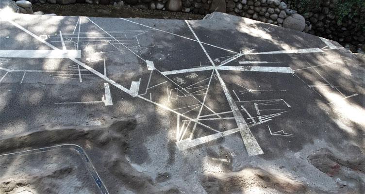 Model der geometrischen Linien.